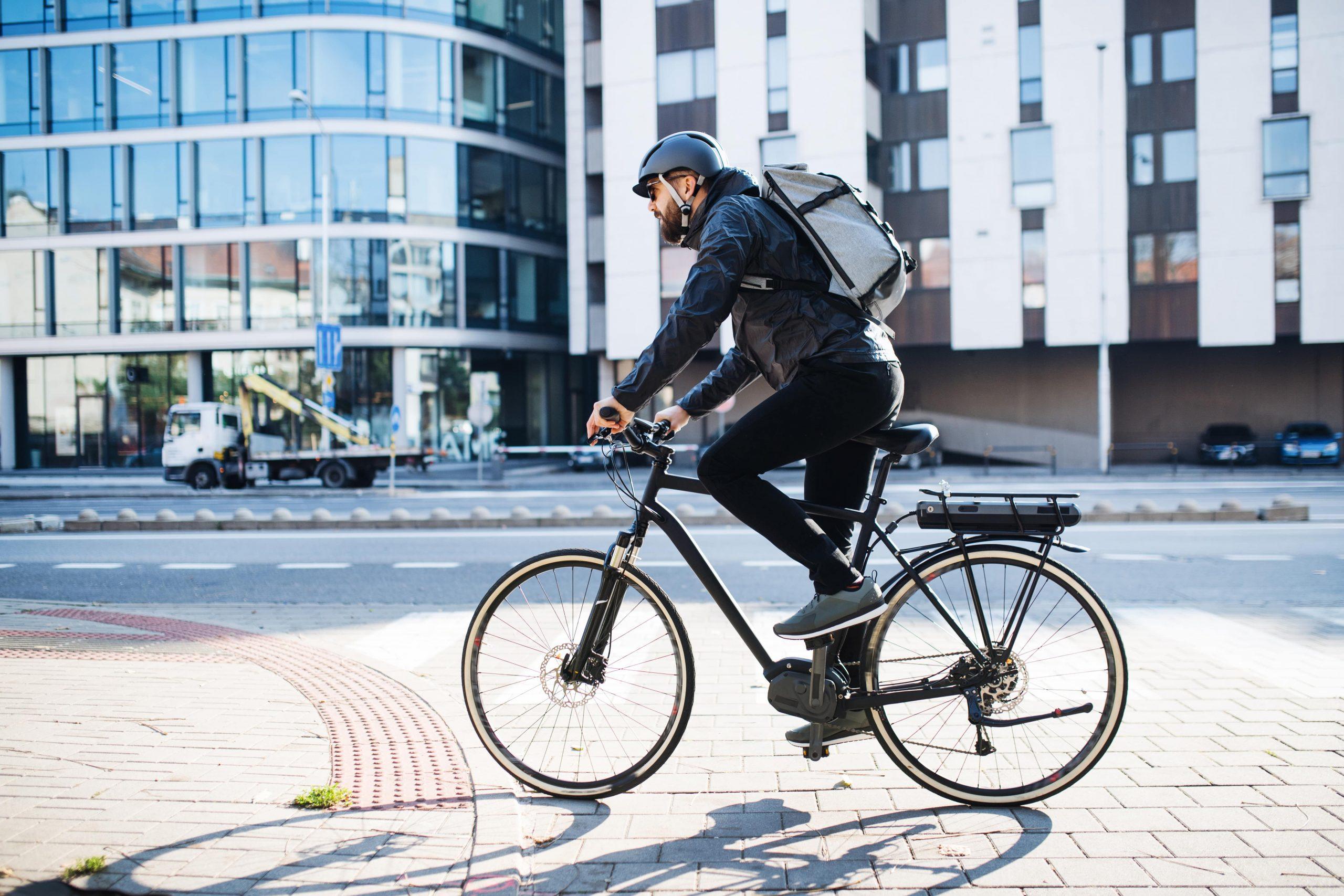 Cycliste en ville