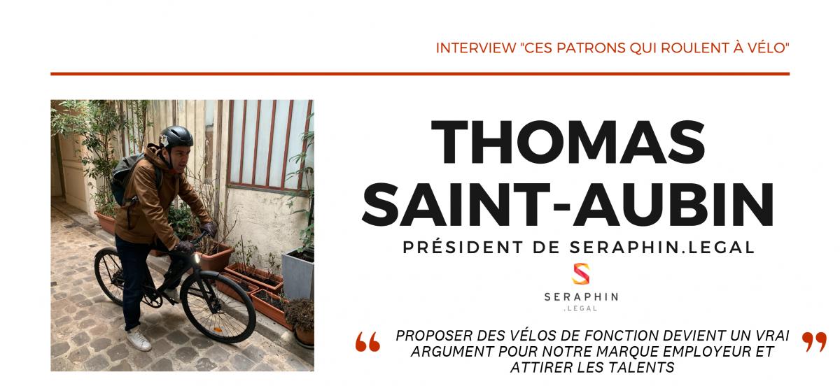 interview patron en vélo